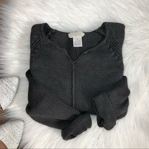 J. Jill • Charcoal grey knit Sweater Top